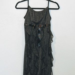 I.N. Girl Size 14 Black Sparkly Party Dress